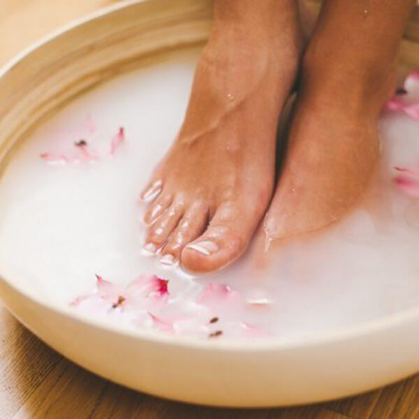 Milk and Honey Foot Soak